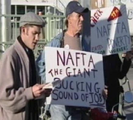 NAFTA- The giand sucking sound of jobs